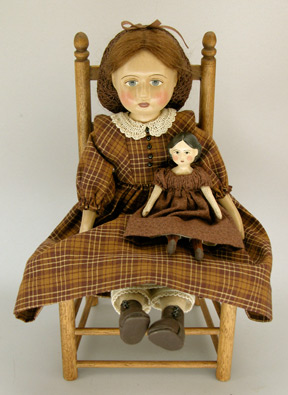 Papier Mache Doll 1858 by Gail Wilson